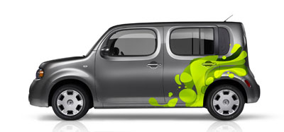 2013 Nissan Cube Original Wraps Graphics