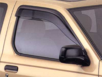 2002 Nissan Frontier Crew Cab Side Window Deflectors 999D3-BL004