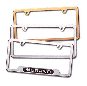 2013 Nissan Pathfinder License Plate Frames 999MB-SV000