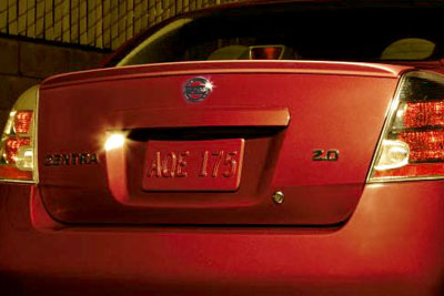 Nissan Sentra Rear Spoiler - Magnetic Grey