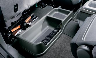 2009 Nissan Titan Rear Under-Seat Storage Bin