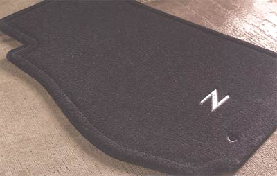 2005 Nissan 350Z Carpeted Floor Mats 999E2-ZP000BK
