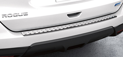 2014 Nissan Rogue Rear Bumper Protector - Chrome 999T6-G2000