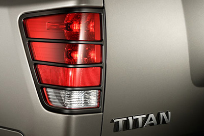 2014 Nissan Titan Rear Tail Light Guards